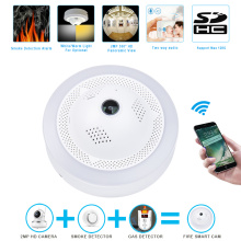 Best Quality for China Smart Home Camera,Home Security Cameras,Outdoor Security Cameras Manufacturer Fire Smoke/Dangerous Gas Alarm Wireless WiFi IP Camera supply to Russian Federation Suppliers