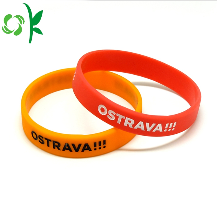 Red Silicone Printed Wristbands 6