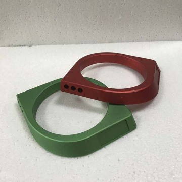 customized Red anodized cnc machining aluminum parts