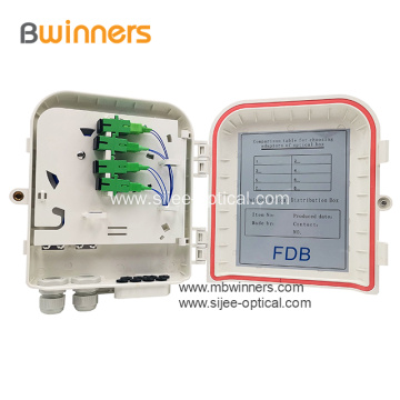 8 Cores Wall and Pole Mount Fiber Termination Boxes