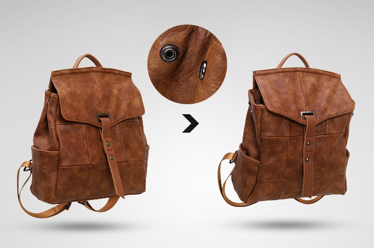 Vitage Leather Backpack