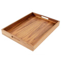 Kitchens Walnut Wood Serving Tray with Handles - Serve Coffee, Tea, Cocktails, Appetizers, Breakfast in Bed or for Ottomans