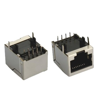 RJ45 Jack Shielded 1x1P Front 3.05