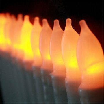 decoration plastic flameless taper led candles