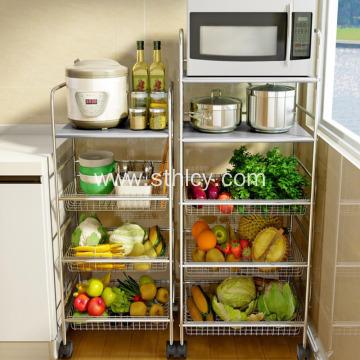 Microwave Oven Rack Kitchen Shelf Floor Storage Shelves