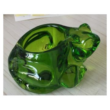 Glass Frog Votive Holder