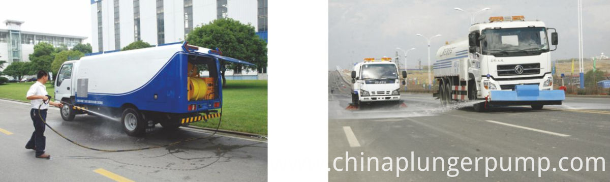 China Triplex Plunger Sewer Cleaning Pump