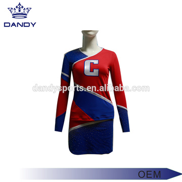 Top Suppliers for Custom Cheerleading Uniforms custom logo blue cheerleader costume supply to Cameroon Exporter