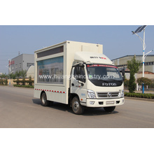 Holiday sales for Curtain Covered Truck Mobile Loudspeaker Van With LED Screen export to San Marino Factory