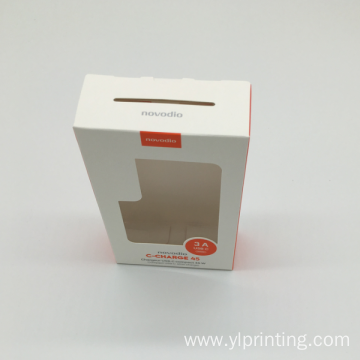 Clear PVC window Custom paper gift box