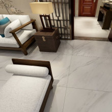 Large white gloss marble effect brick tiles