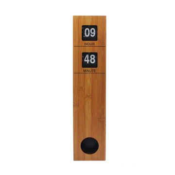 Long Pendulum Wall Auto Flip Down Clock