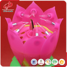 Musical Lotus Flower Candle for Birthday Party