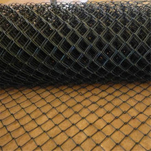 Black Vinyl Chain Link Swimming Pool Fence