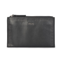 Ladies Leather Evening Clutch Bag With Rivets