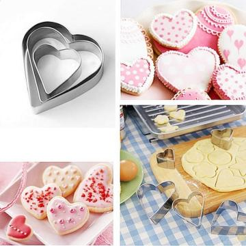 Stainless Steel Heart Star shaped Cookie Cutter