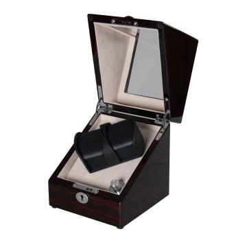 watch winder for 2 automatic watches with battery case