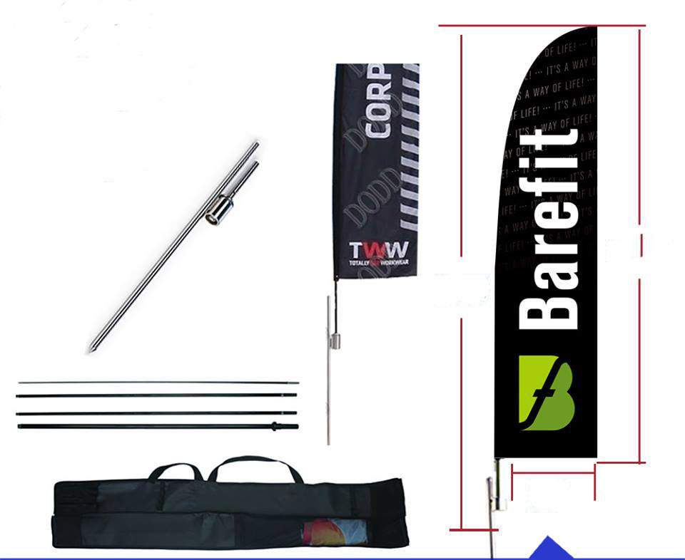 13 Feet Double Sided Blade Feather Flag