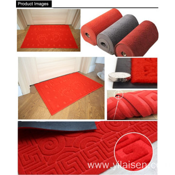 Printed mat polyester embossed floor in roll