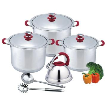 High Quality 9pcs wide edge stock pot