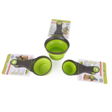plastic fordable silicone pinch bowl for pet