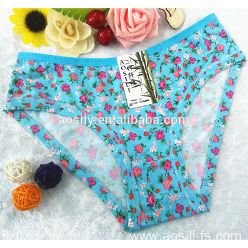 AS-550 OEM wholesale underwear lady young girls sexy underwear made of printed bamboo fiber