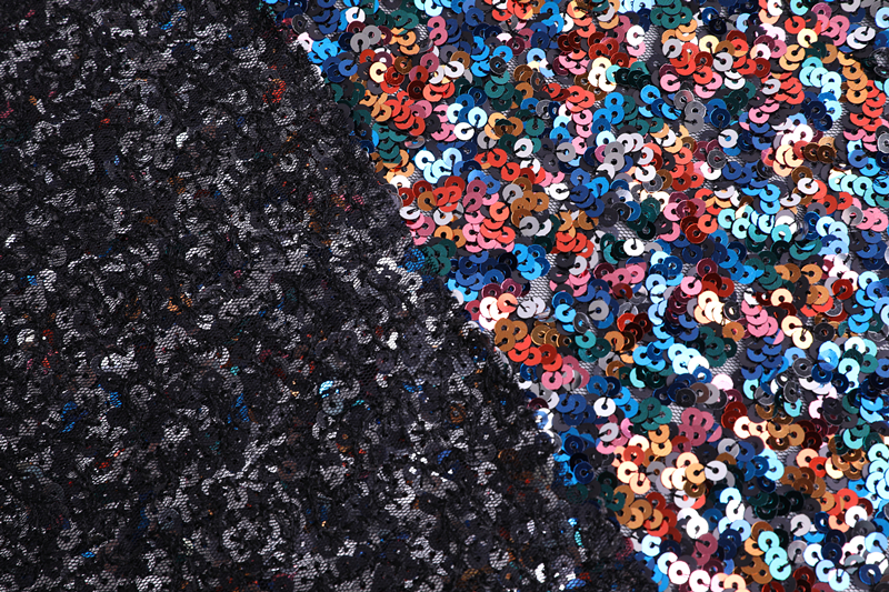 5mm Sequin Embroidery Fabric
