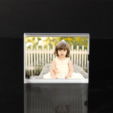 Clear Acrylic Sandwich Picture Block Frame