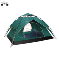 double layer DarkGreen camping tent for 3-4 person