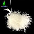New Products Big Handmade White Glass Flamingo Ornaments