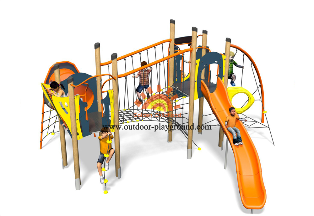 outdoor play structure inclined net park for kids