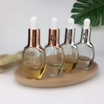 30ml glass flat dropper bottles