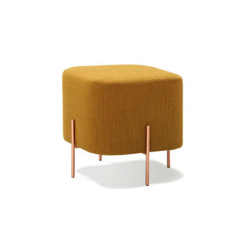 Customized for Round Ottoman Stool Indian metal legs elephant pouf ottoman supply to Portugal Supplier
