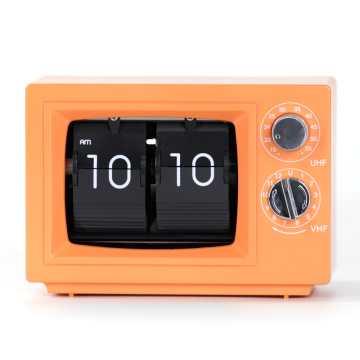 Small Desk TV Flip Clocks with Light