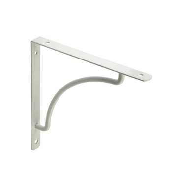 Steel simple white painting wall mounted shelf brackets