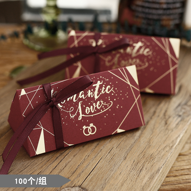 Retail red paper candy package
