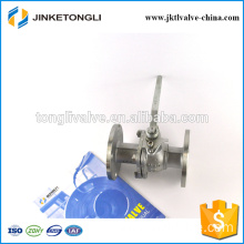JKTLFB011 cast iron manufacture 2 piece water flange flow control ball valve