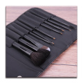 10 pcs black pu makeup brush set