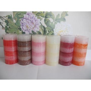 Layered Unscented Long Lasting Pillar Candles