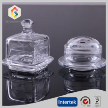 Factory directly sale for Glass Jewel Box Clear glass butter dish supply to India Manufacturer