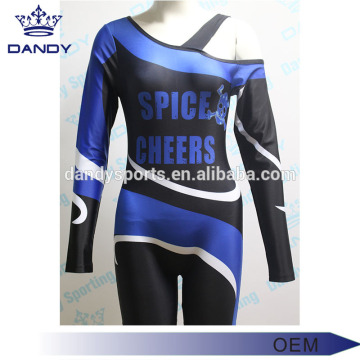 Sêwirana Fashion-ê Neckline-a Asymmetric Cheer Youth Uniform