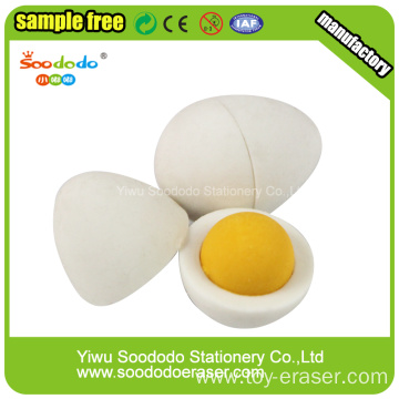 Egg 3D eraser set ,promotion stationery eraser group set