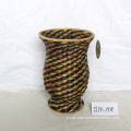 Round Water Hyacinth Flower Basket