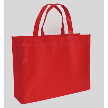 Custom non-woven gift green handbag shopping bag.