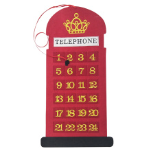 Christmas telephone shape countdown advent calendar