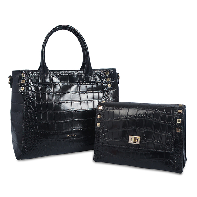 Top quality exotic real crocodile leather business bag