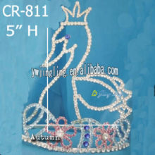 Hot Sale for for Pink Butterfly Pageant Crowns Pageant Crown Animal Tiaras CR-811 supply to Bahamas Factory