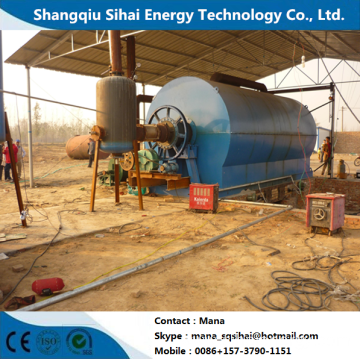 Renew Waste Tires to Fuel Oil Pyrolytic Machine