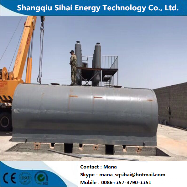 Waste Tire Oil Refinery to Diesel Distillation Machine