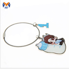 OEM Manufacturer for Hotel Keychain,Custom Printed Keychains,Keychain Printing Manufacturers and Suppliers in China Metal wire name printing keychain export to Anguilla Wholesale
